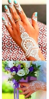 AL-SAFA 100% NATURAL WHITE HENNA CONES, HERBAL MEHNDI, TATTOO, FRESHLY MADE