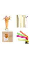 Quality 100 x 21cm Neon Coloured Flexible Bendy Birthday Party Drinking Straw