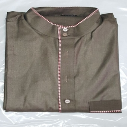 Grey jubba with red and white checkerboard detail (M L XL XXL XXXL)