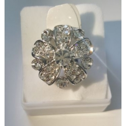 Flower Shaped Silver Ring Adjust to any Size
