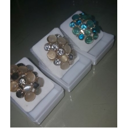 Blue/Cream/Grey Hive Ring  Adjustable to Fit any Size