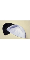 Indonesian White & Black Cap Islamic Skull Topi Muslim Prayer Mosque Hat, Kufi