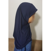 Children One Piece Plain Cotton Hijab, Burka, Khimar Pull Over Muslim Pray Scarf