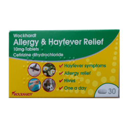 Allergy & Hayfever Relief 10mg x 30 Tablets One-a-day, Itchy, Hives, Runny Nose